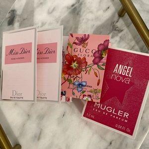 Dior, Gucci & Mugler Vials